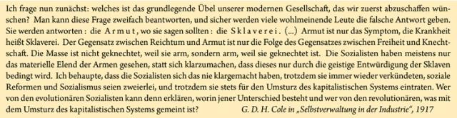 G.D.H. Cole Zitat