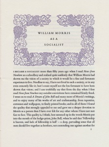 William Morris as a socialist